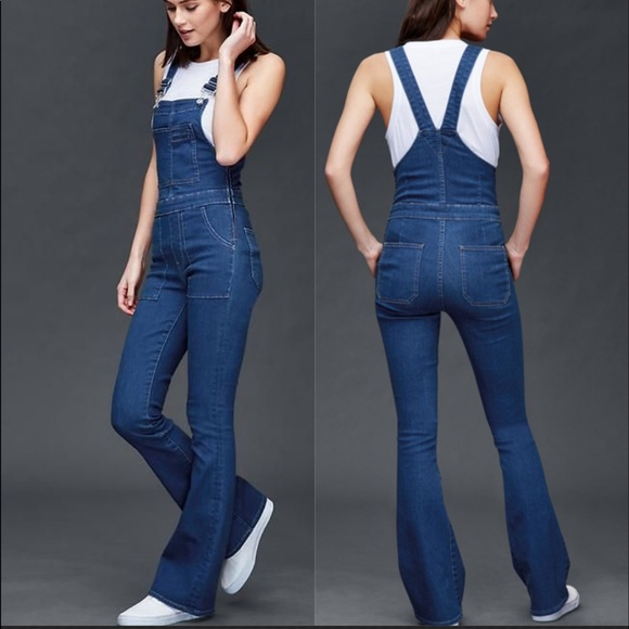 eaaa3409e8e7 GAP Pants - The Gap 1969 long denim flare overalls